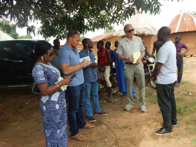 Our team with officials of the United States African Development Foundation (USADF) during a visit to the project site