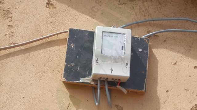 Smart meter installed in each house to track electricity consumption
