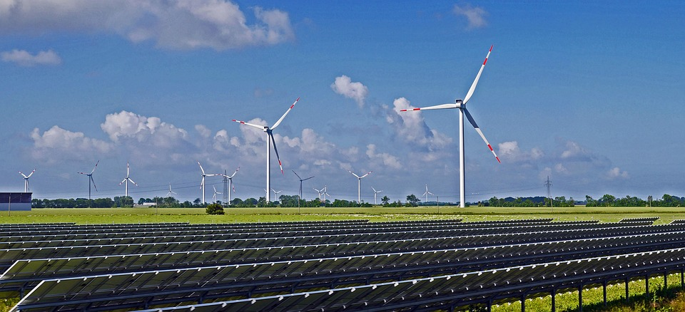 a picture showing solar energy over wind energy