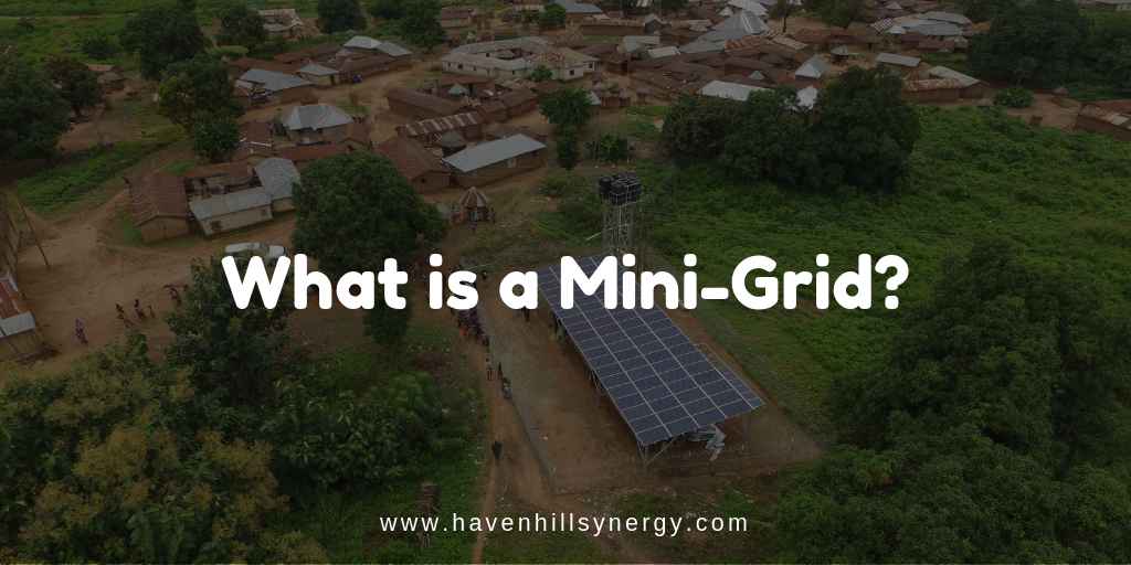An image for an article that talks about mini-grids