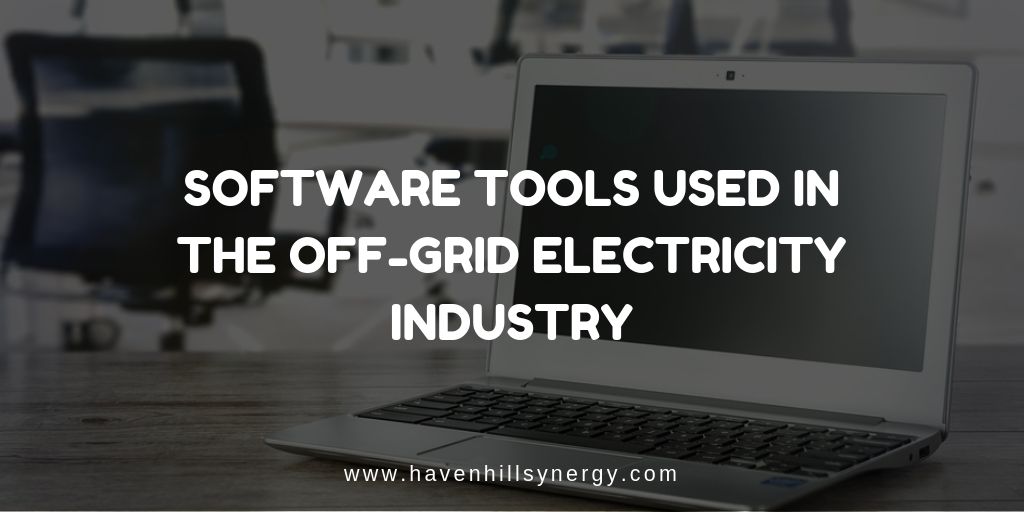 A blog post describing software tools used in the off-grid electricity industry