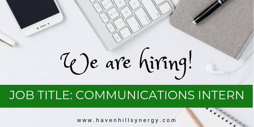 We are hiring - Communications Intern, Havenhill Synergy, MiniGrid Company, Abuja, Nigeria