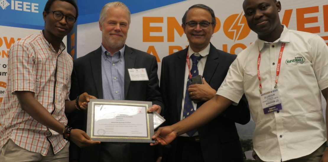 Havenhill Synergy Wins the Global Prize for the Track Award 2A at the IEEE Empower a Billion Lives Global Final Competition